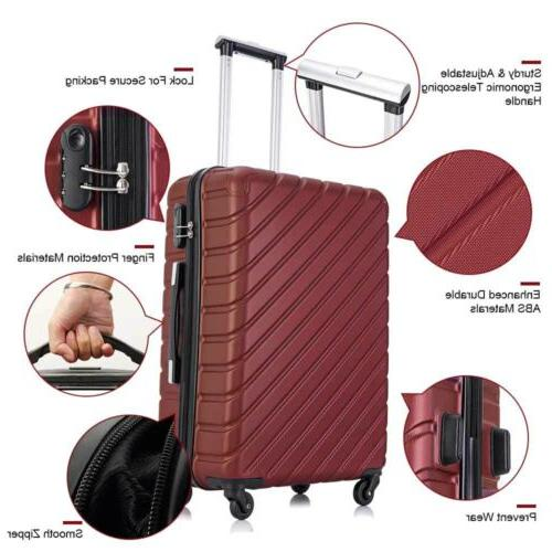 4 Set Travel Suitcase Hardshell