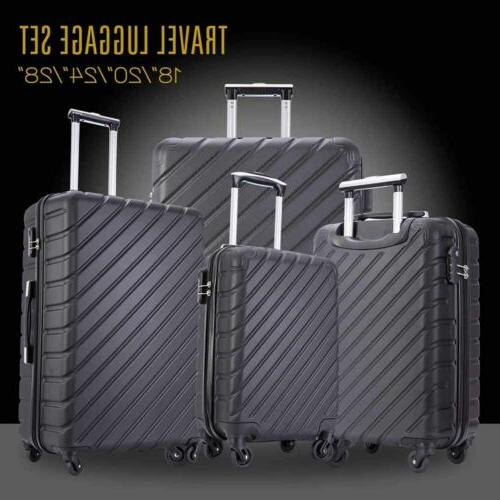 4-Piece Nested Luggage Suitcase Spinner Hardshell Lightweight ABS