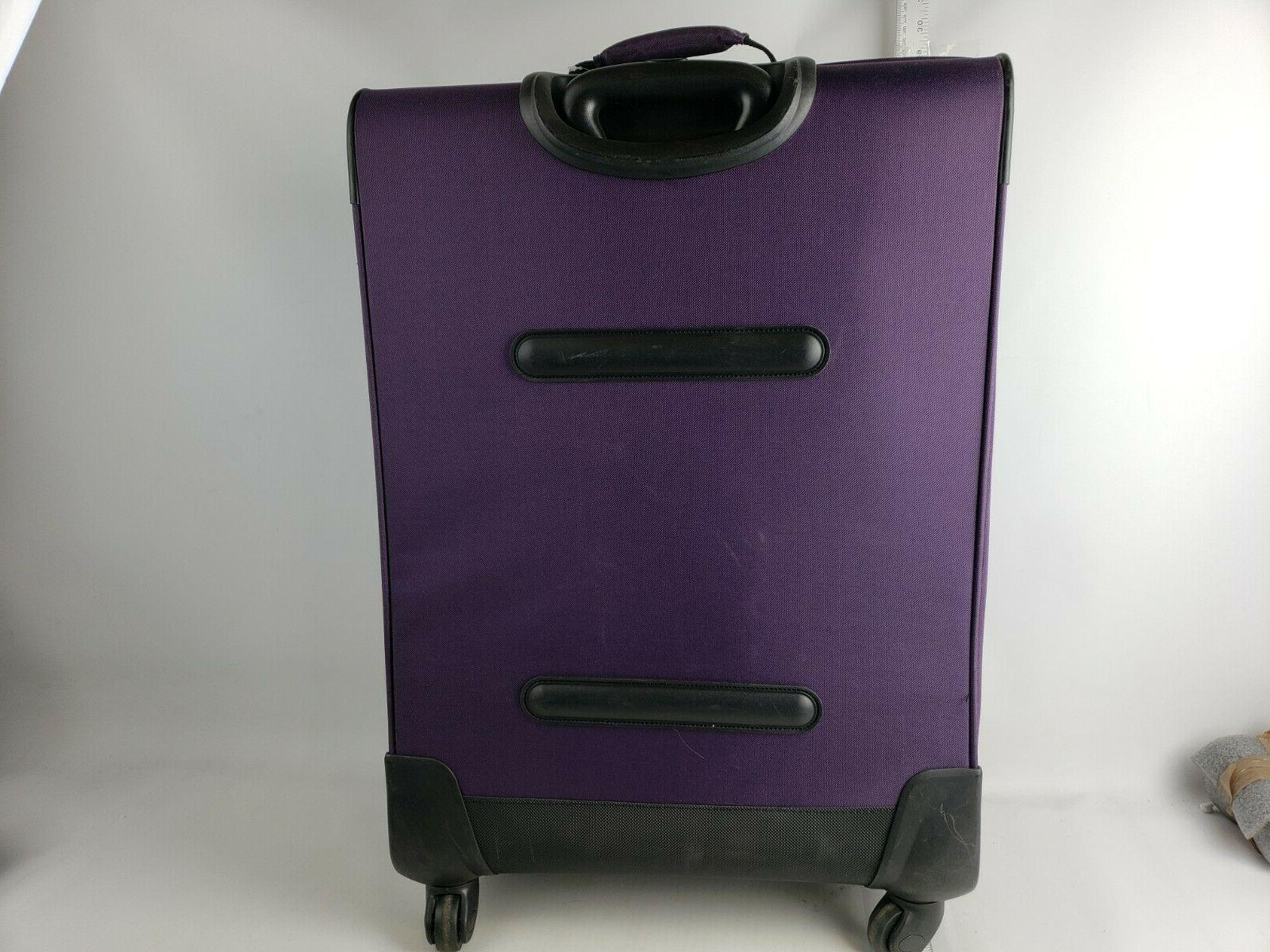 American 4 Softside Set Purple - Rolling Suitcases