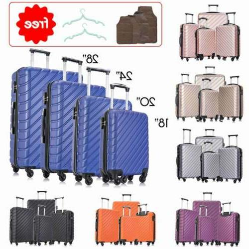 "4 Set-Luggage Suitcase 18""20""24""28"""