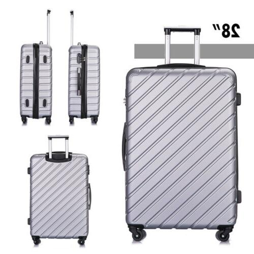 4 Piece Set-Luggage Light Suitcase w/Lock