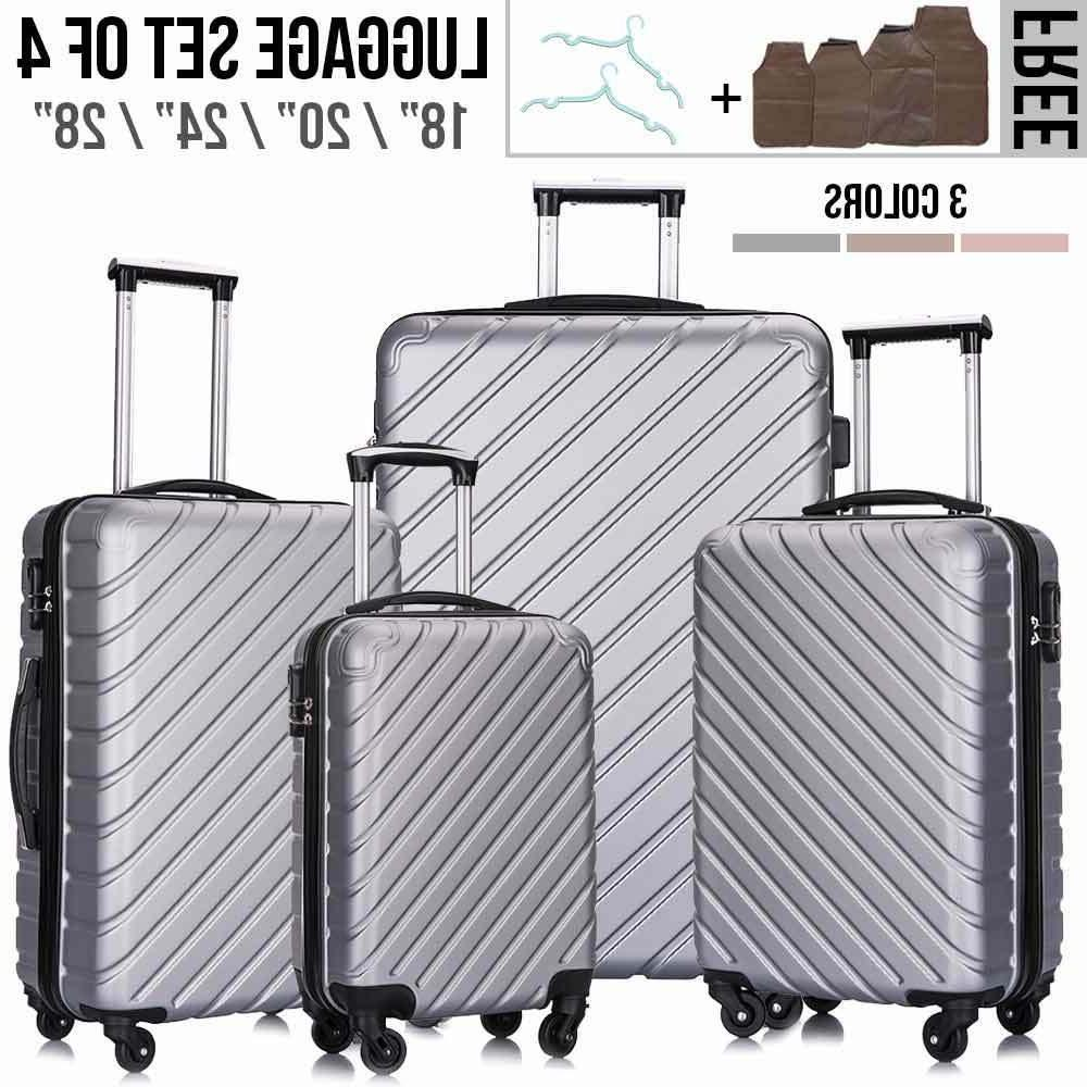 "4 Light Travel Case Suitcase 18""20""24""28"" w/Lock"