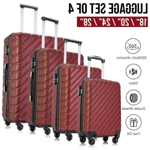 4 Piece Luggage Set Travel Spinner Hardshell