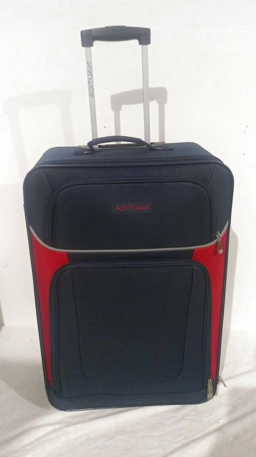 """$400 NAUTICA Oceanview Expandable Rolling Wheel 3 Set 24"""" Luggage"""