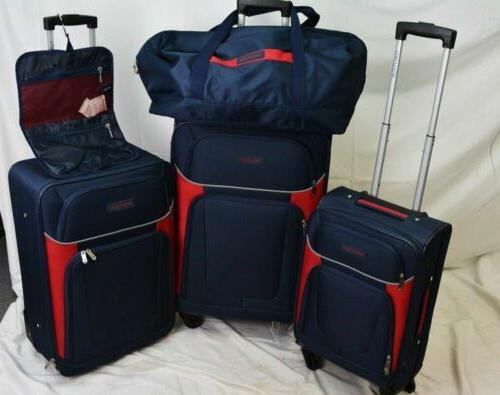 $460 5 Luggage Set Spinner Suitcase Blue Red