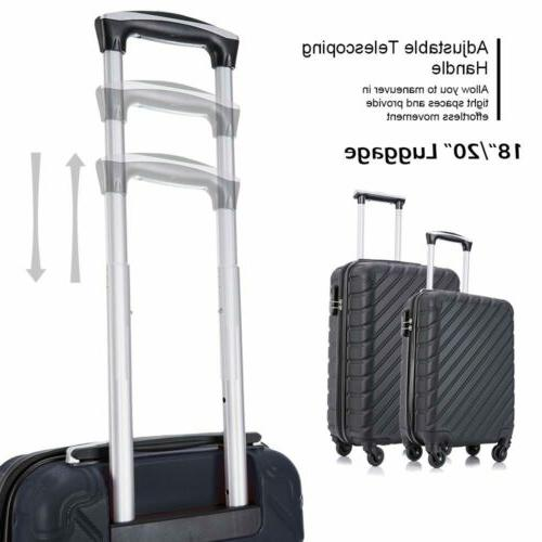 4-Piece Nested Luggage Suitcase ABS