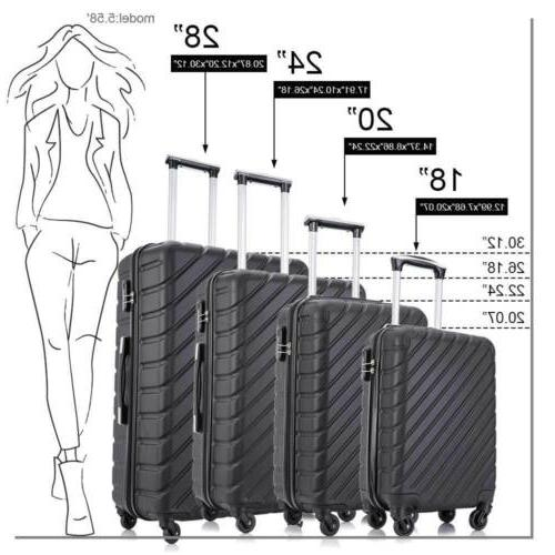 4-Piece Suitcase ABS Cover