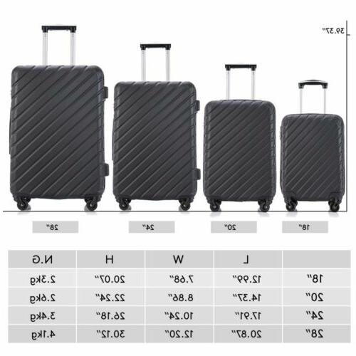 4-Piece Suitcase Spinner ABS 4