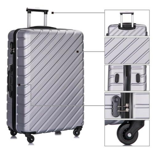 3/4 Travel Luggage Set Bag Business ABS Suitcase