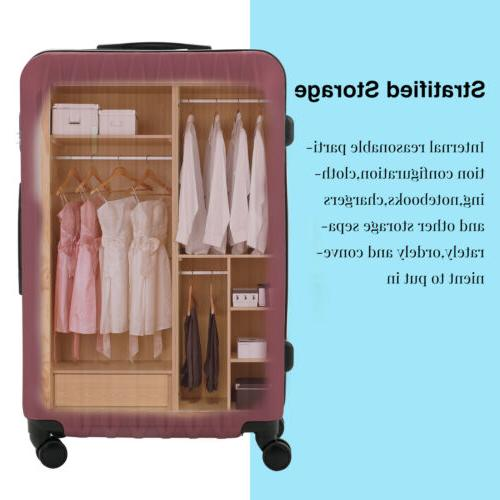 4PCS Luggage Set Bag 360° Spinner Wheels Carry Lock ABS