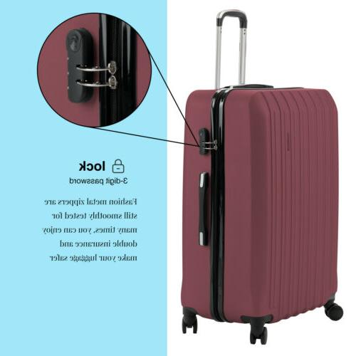 4PCS Luggage Bag Wheels Carry Lock