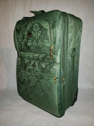 American Flyer 5 Suitcase Luggage Green Brand New