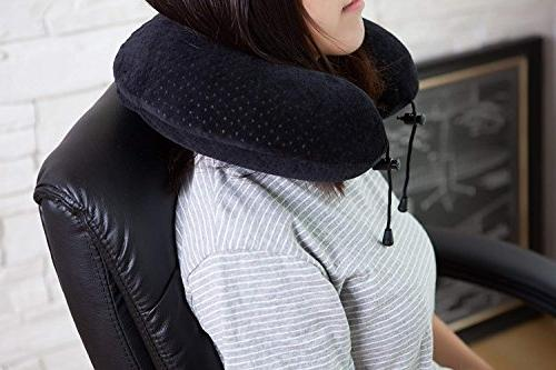 AERIS Restful on an Airplane,Memory Foam for Accessories for Long Flights,Easy Carry to Space,Ear Plugs and