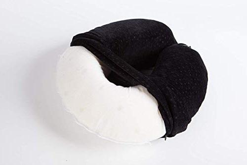 AERIS Pillow Restful Sleep an Airplane,Memory Accessories Long Flights,Easy Carry to and Mask