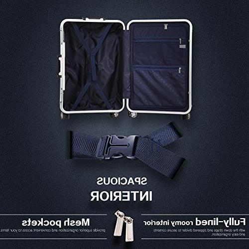 Coolife Suitcase with 100% PC
