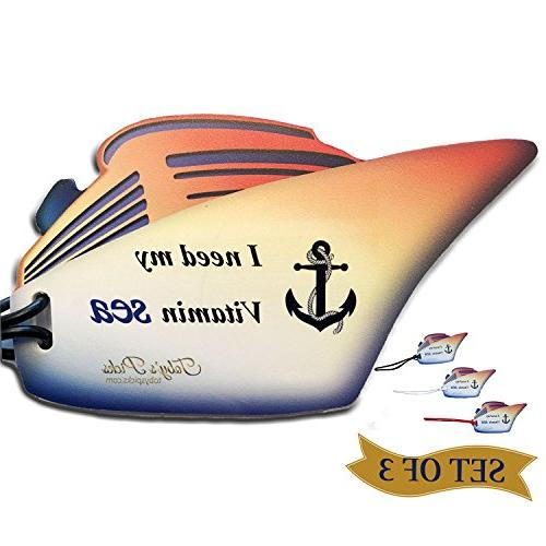 Luggage Tags Cruise Ship, Travel Suitcase ID, Funny Ships Ah