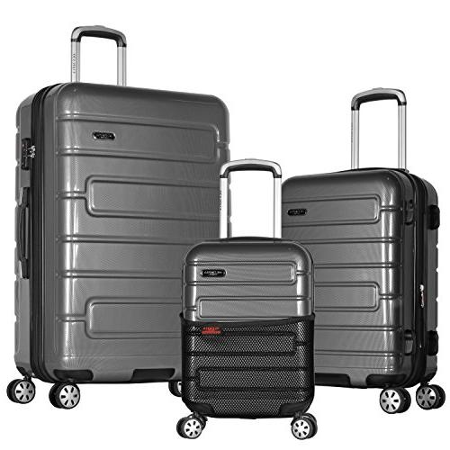 Olympia Nema 3-Piece Exp. Hardcase Spinner Luggage Set W/TSA
