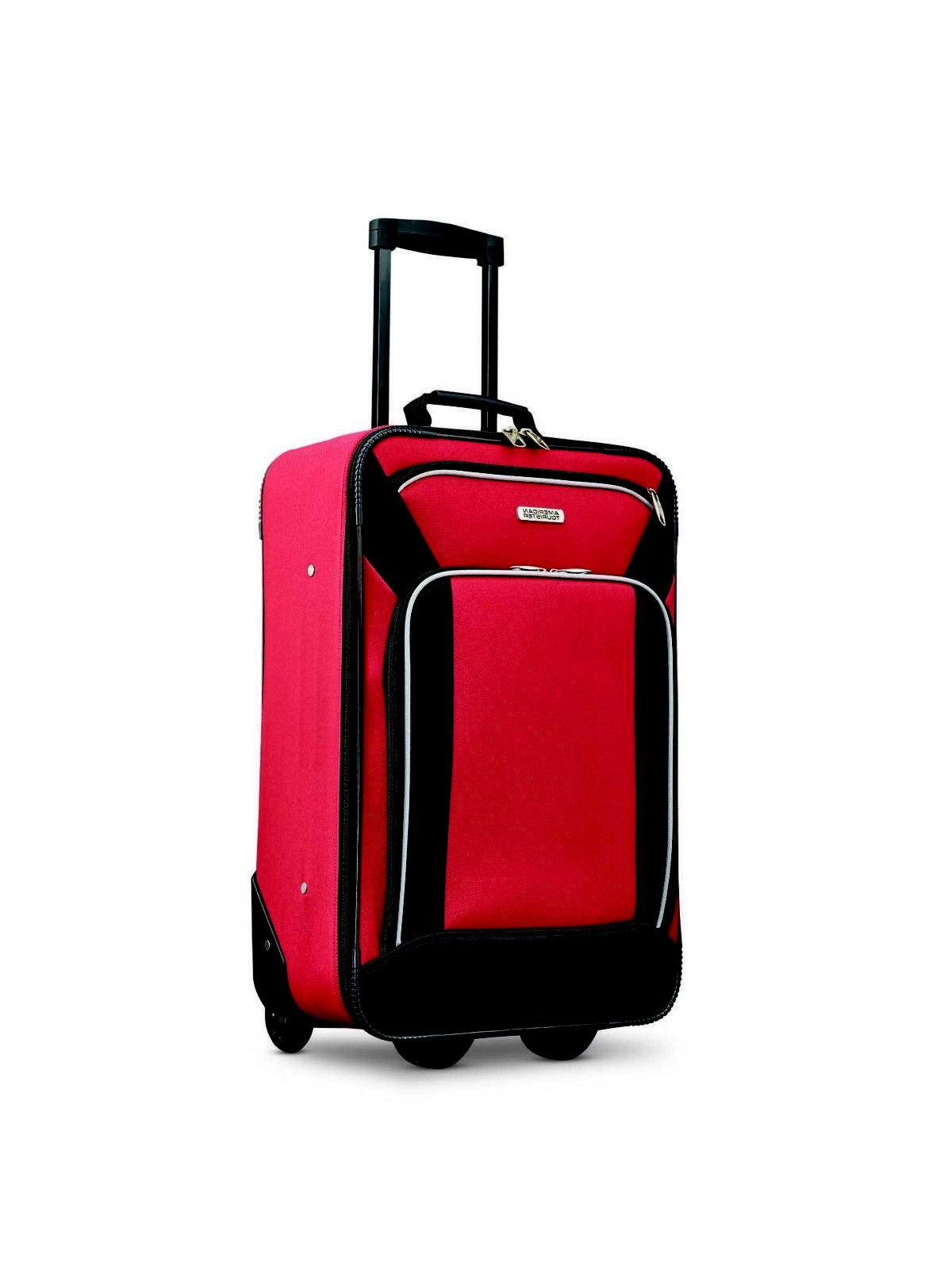 Red Luggage Set Piece Skate and Duffel Bag