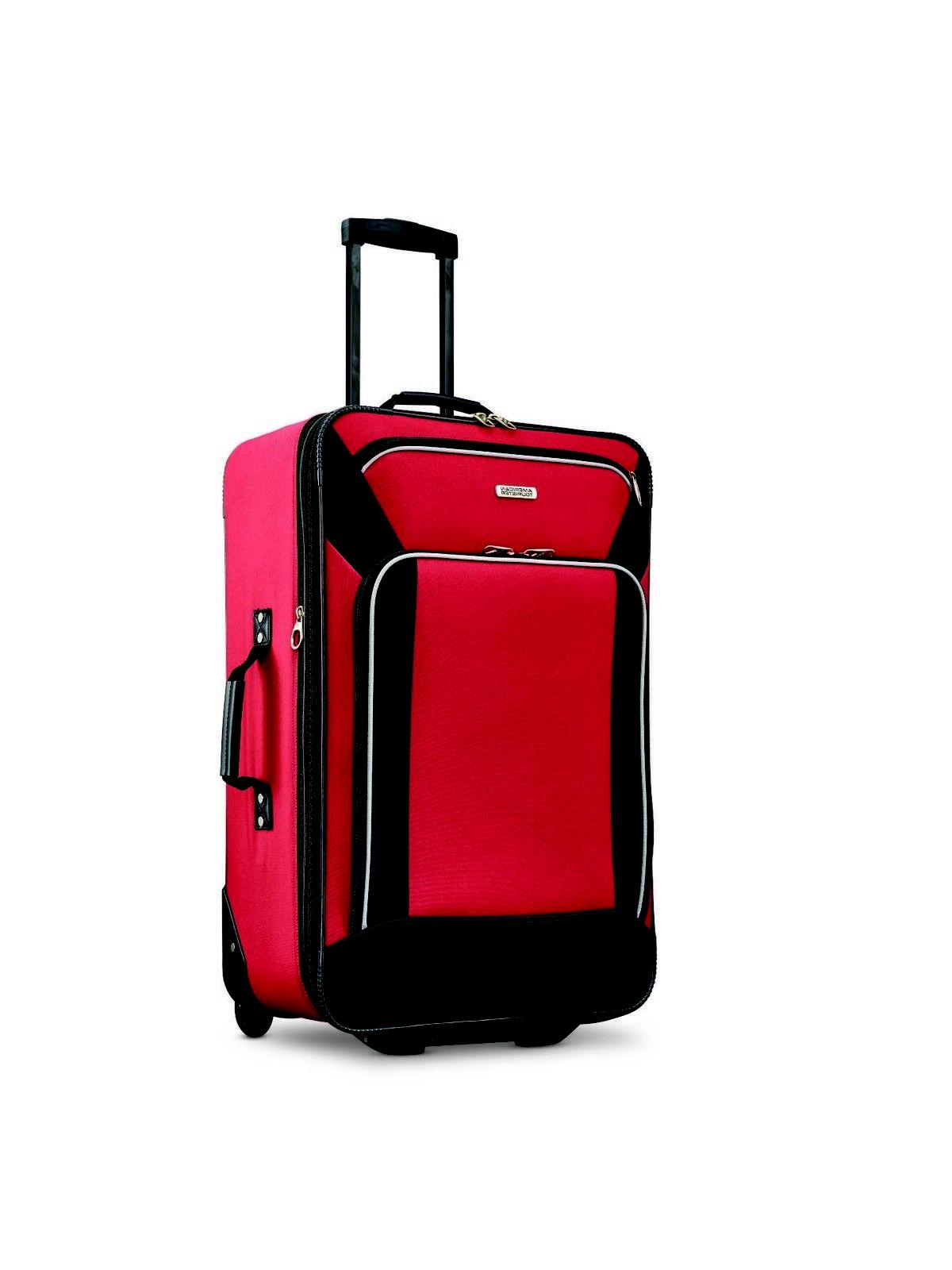 Red Set Piece Rolling Line Skate and Duffel Bag