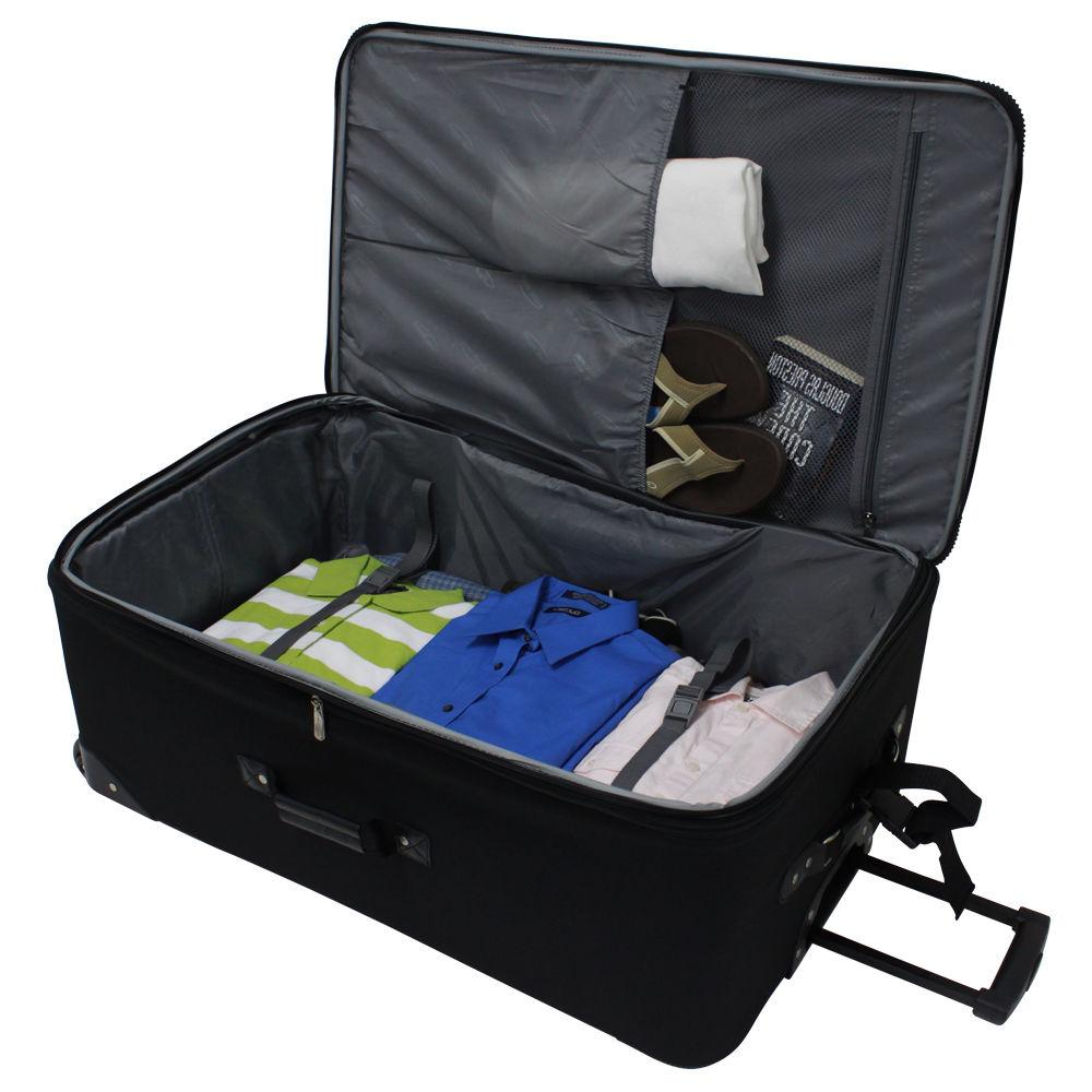 Amsterdam 8-Piece Expandable Rolling Luggage Suitcase Bag Travel