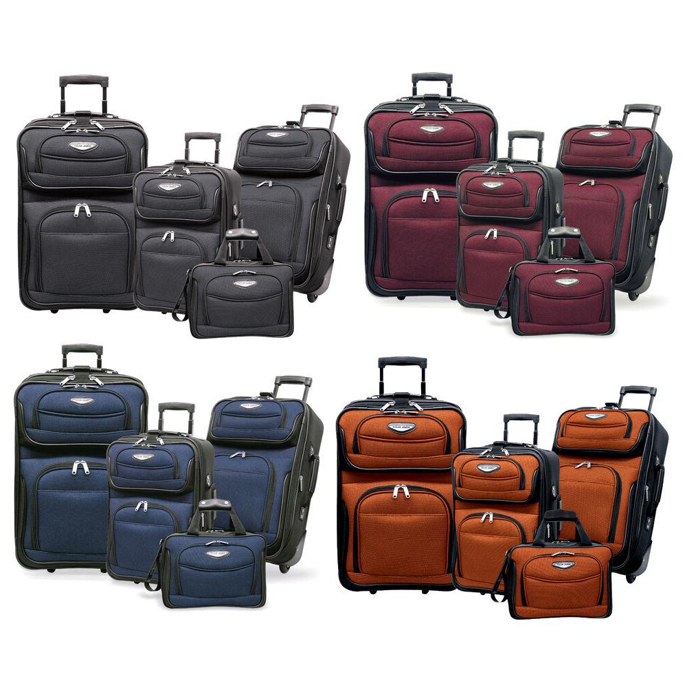 amsterdam 4 piece light expandable rolling luggage