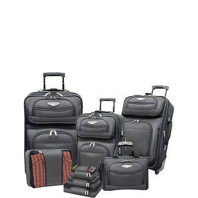 amsterdam 8 piece luggage set