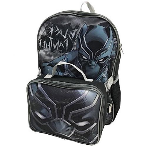avengers black panther backpack lunch