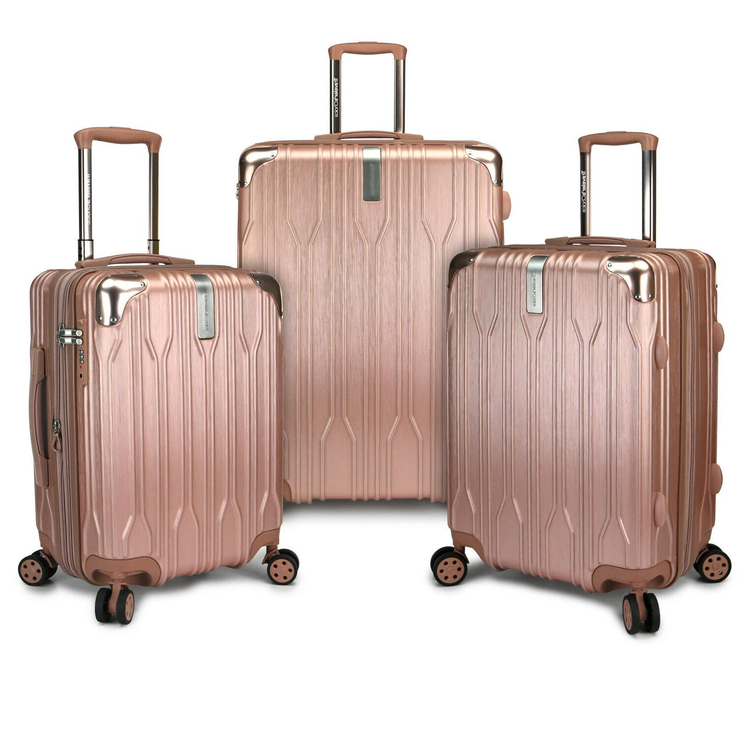 bell weather 3pc hardside expandable metallic spinner
