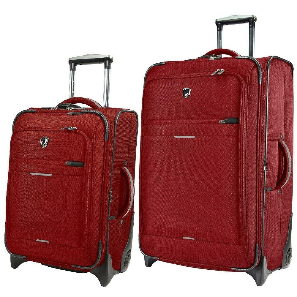 Birmingham Red 2PC 21in & 29in Lightweight Expandable Rugged