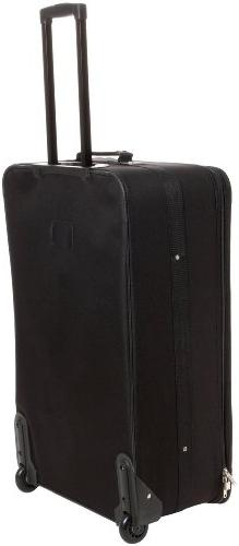 Rockland Black 4-piece Expandable Luggage