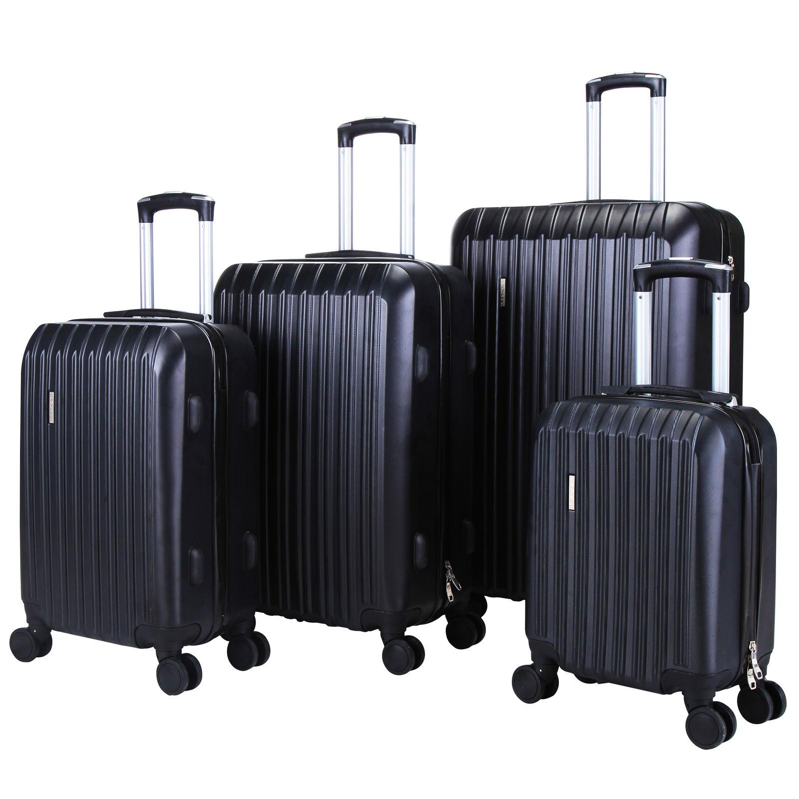 "4 Set Travel Case Hardshell 16""20""24""28"" Black"