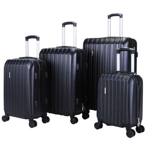 4 ABS Set Travel Hardshell Suitcase