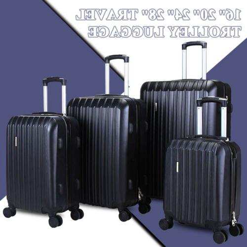 black luggage set bag abs