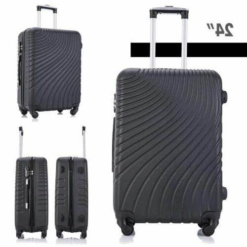 Black of 3 Luggage Trolley Suitcase