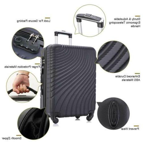Black Luggage Travel Bag Trolley Spinner Business Suitcase