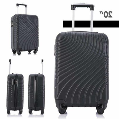 Black Luggage Trolley ABS Spinner Business Suitcase