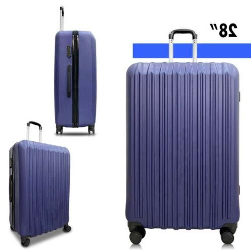 4 Piece Luggage Set Light Travel Case Hardshell