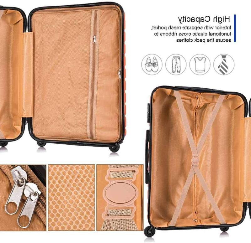 Apelila Carry Sets,Travel Suitcase Spinner Lightweight