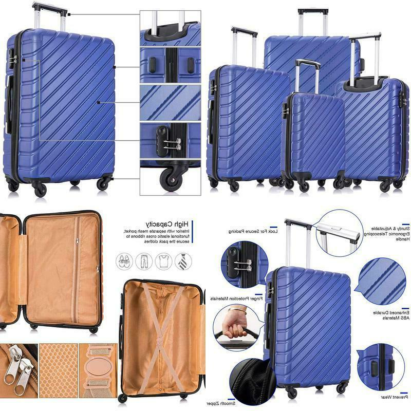 carry on luggage sets travel suitcase spinner