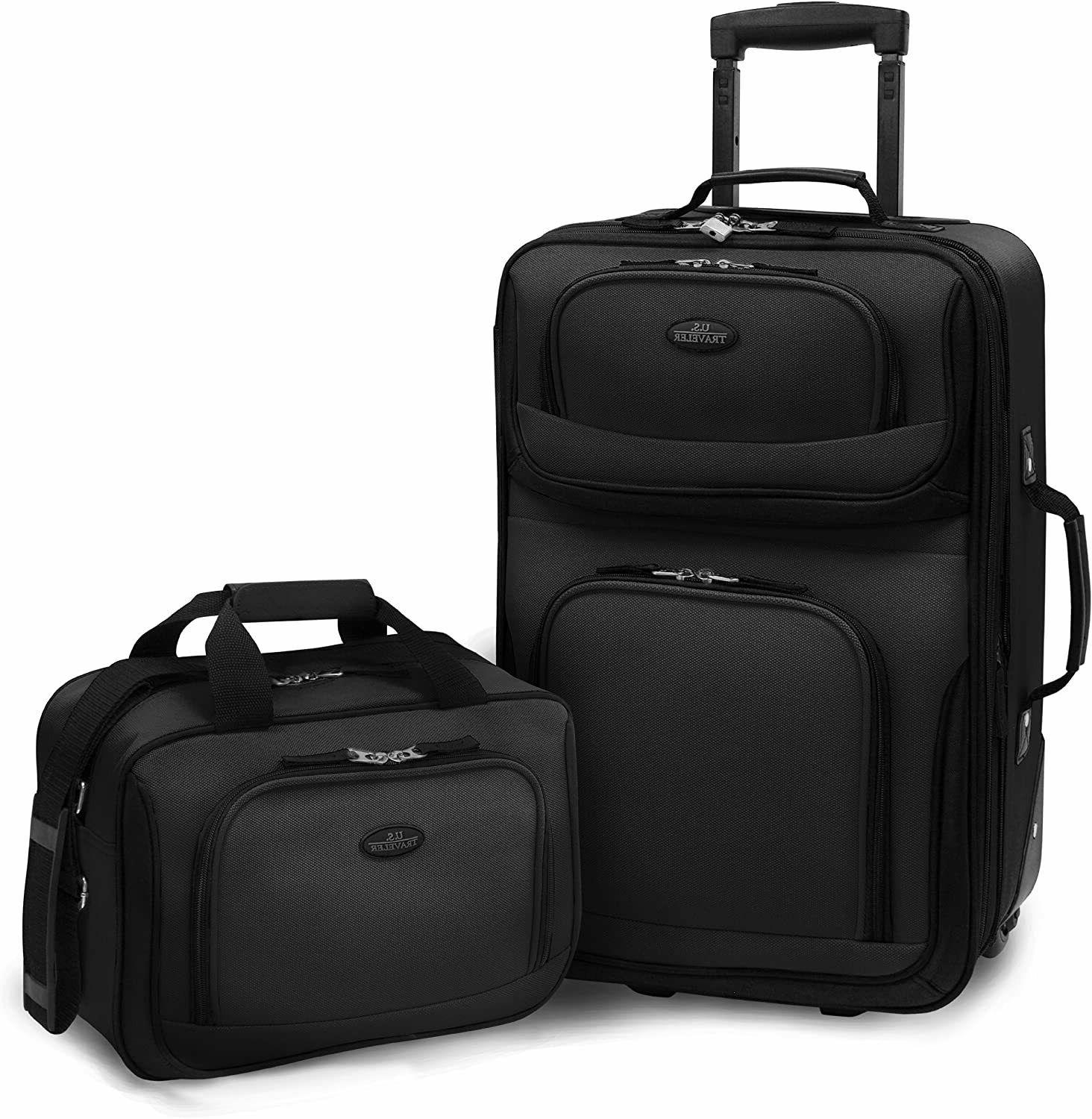 carry on rio black rolling lightweight expandable
