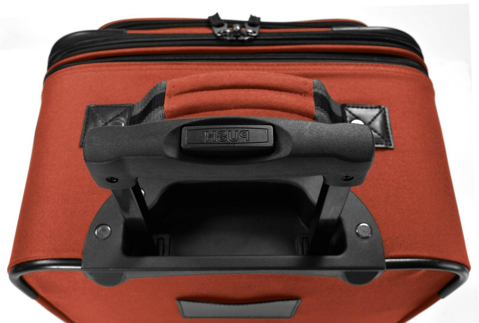 2-Piece Carry-On Rolling Upright & Luggage Set