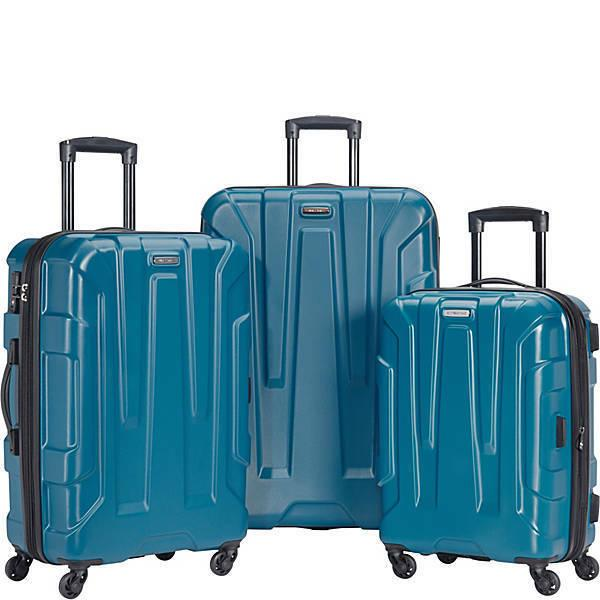 centric 3 piece expandable hardside spinner luggage