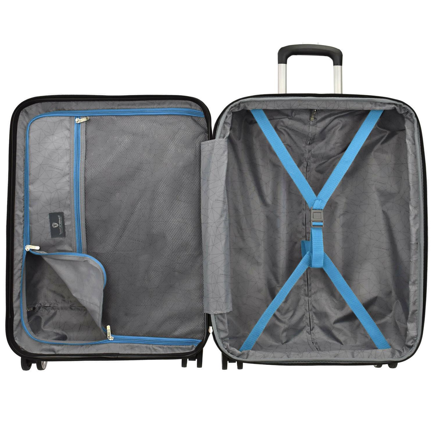Charvi Hardside 8-Wheel Luggage w/Matching Color