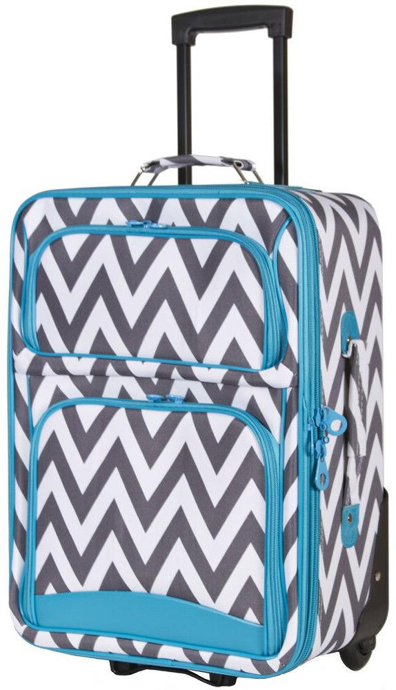Chevron Striped Expandable pc Luggage for Check In