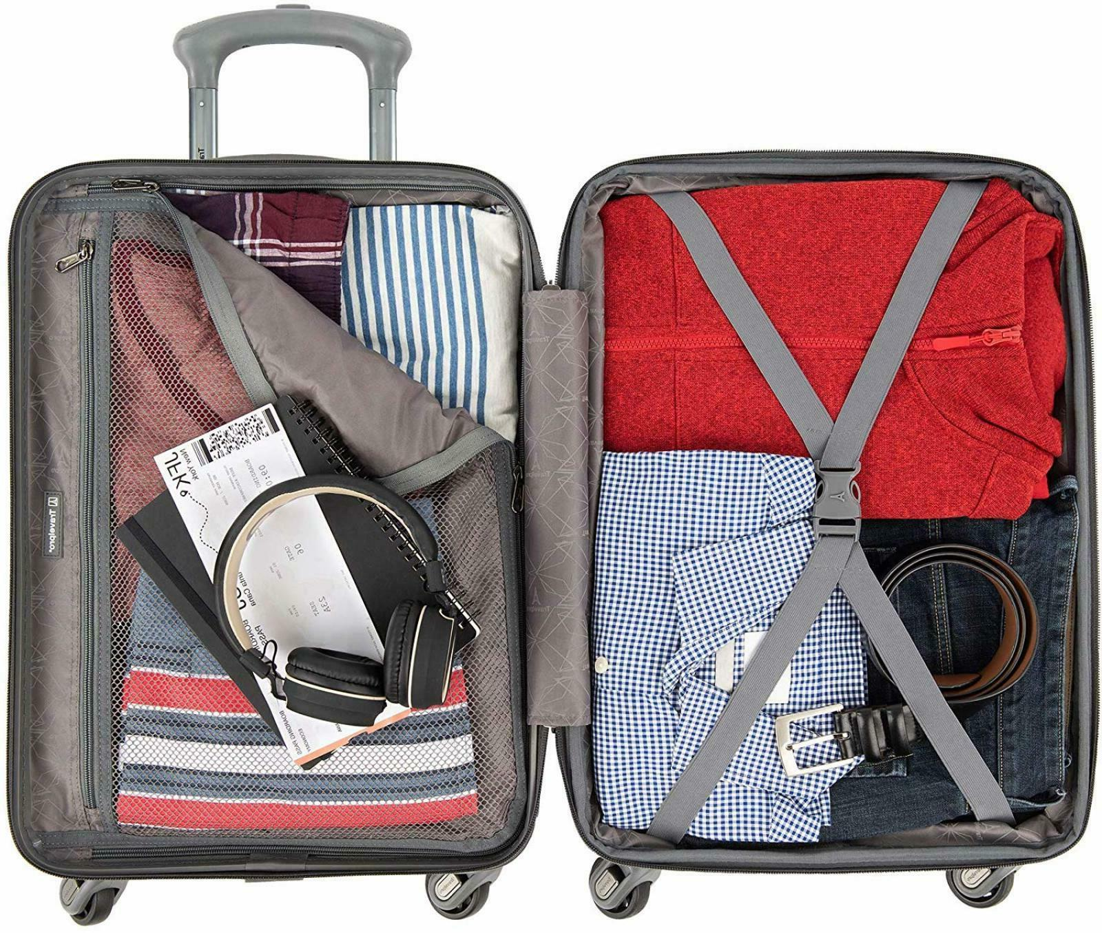 "Travelpro Citadel Deluxe 2 Piece Hardside Set 24"" Metal"