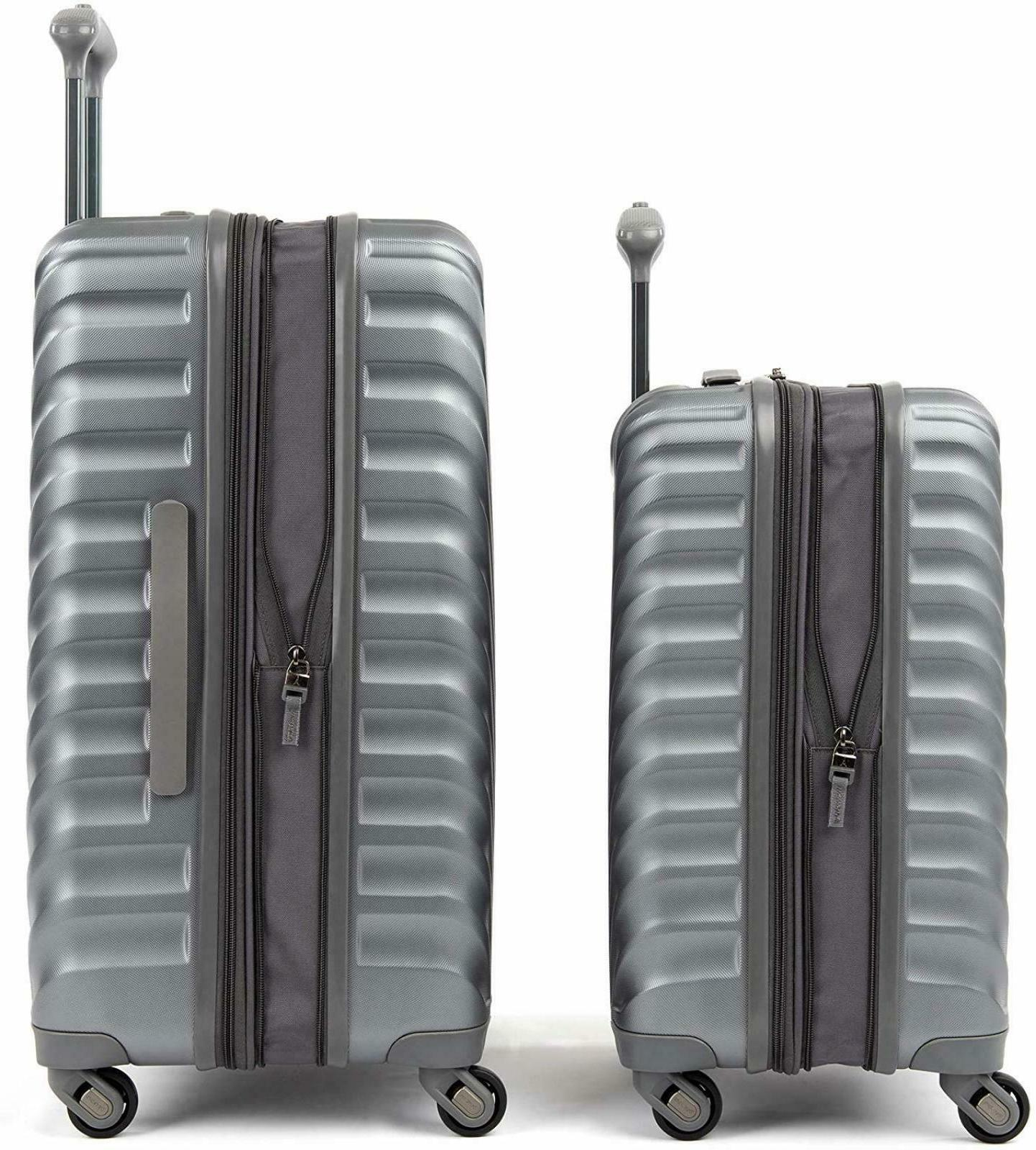 "Travelpro Citadel Piece Hardside Spinner Luggage Set 20"" 24"" Metal"