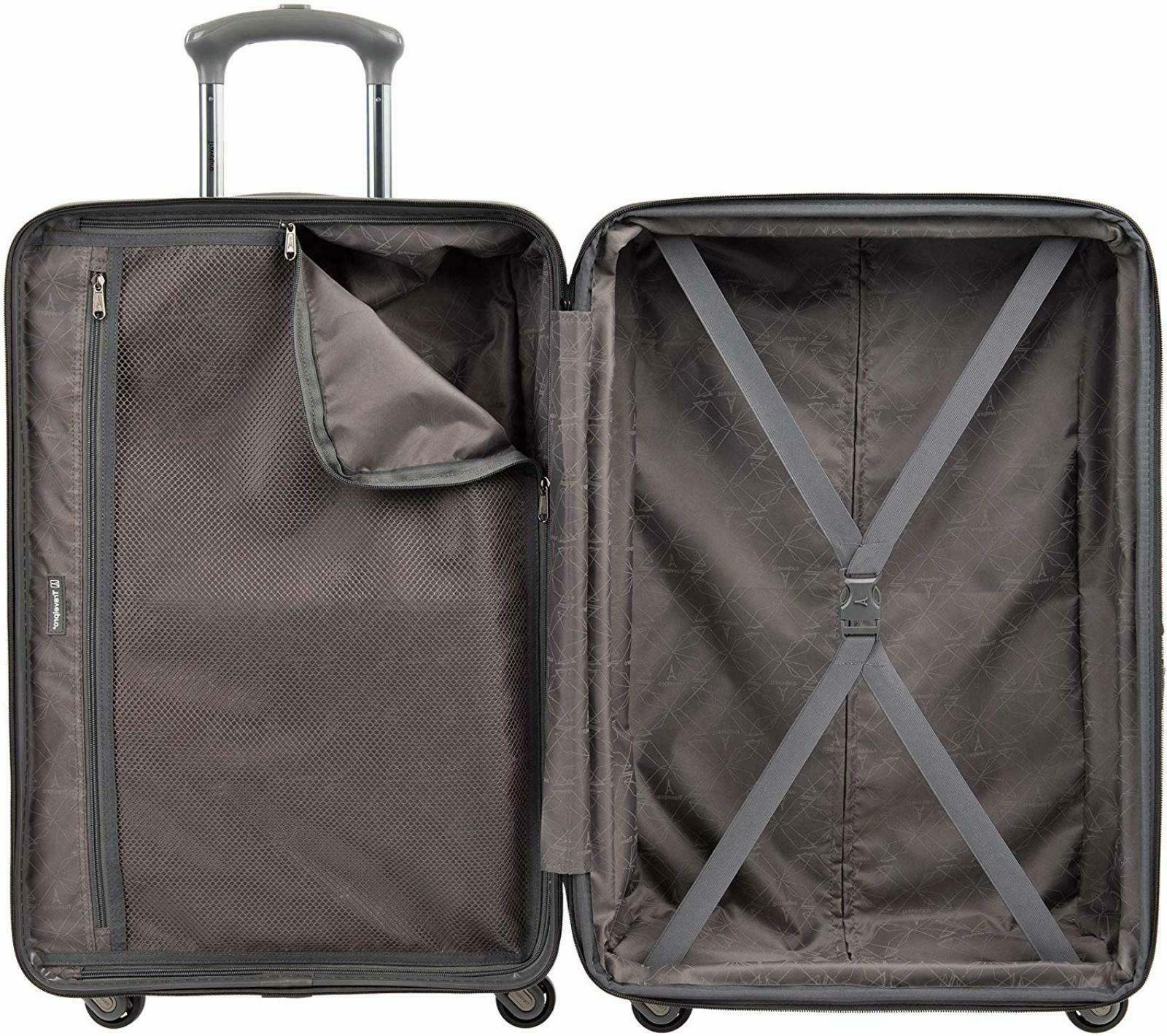 "Travelpro Citadel Piece Hardside Luggage Set 20"" 24"" Gun Metal"