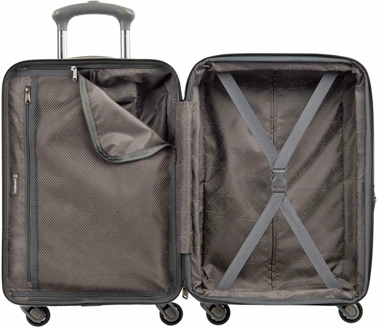 "Travelpro Piece Spinner Set 20"" Metal"