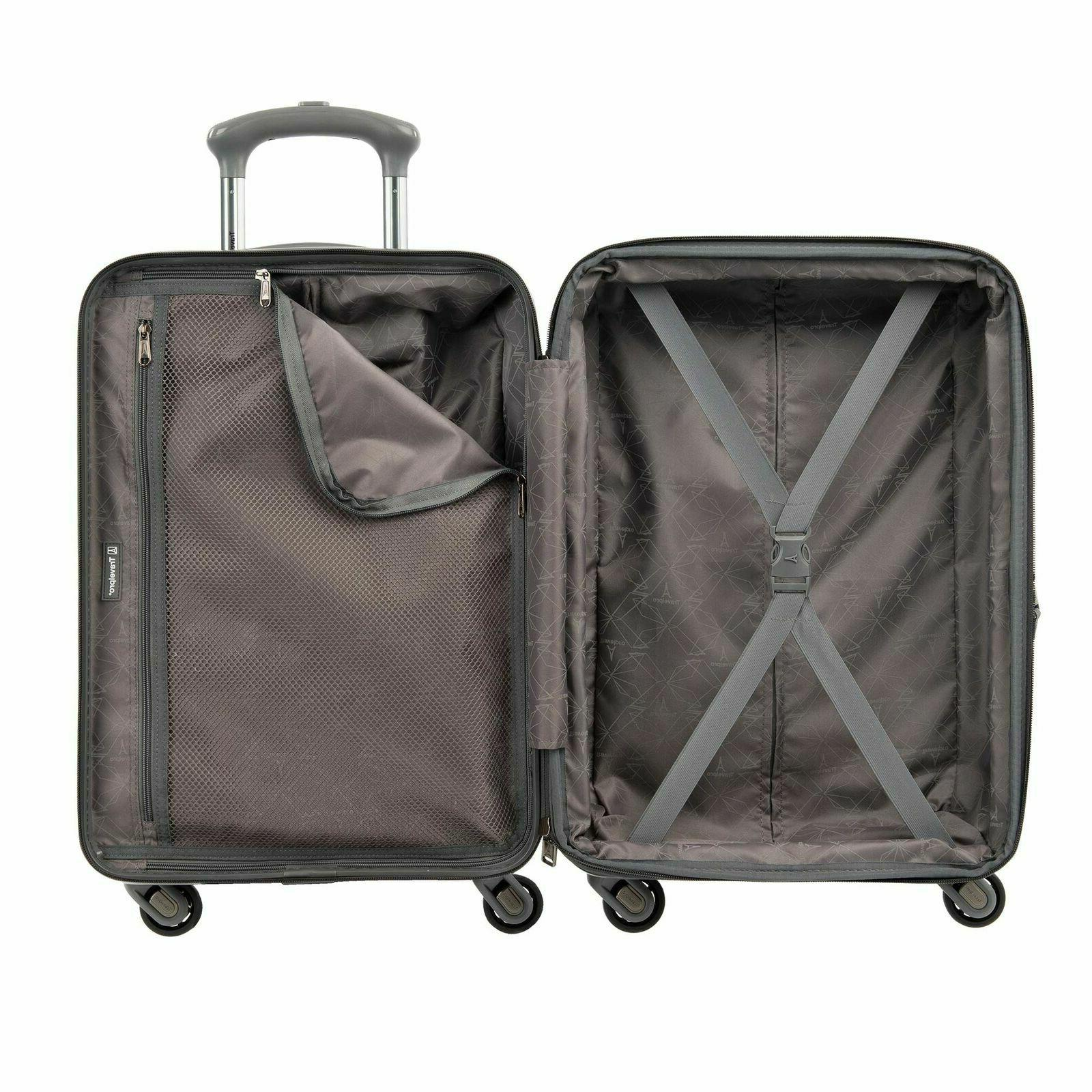 """Citadel Deluxe 20"""" and 24"""" Hardside Luggage Set by Travelpro Gun Meta..."""