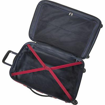 Nautica Navy 3 Piece Hardside Luggage Set